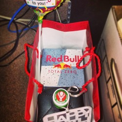 carrieregalado:  A lil Birthday present for my #Boss #Jägermeister #RedBull #JägerBomb 🙌🍻