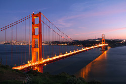 The Gateway on Flickr.The Golden Gate Bridge from Battery Spencer. Although the bridge is breathtaking from this view, what makes it is the city laid out right behind. It would be an awesome view even if the Golden Gate wasn't there.