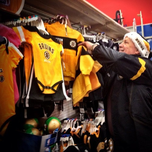 nhlbruins:  Coach Julien found the #Bruins section of Target during the #Holiday Toy Shopping event.