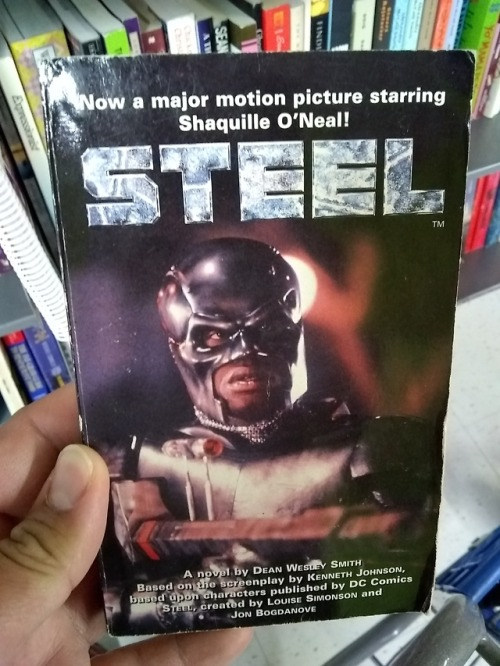 shaq shaquille o& 039;neal steel book novelization second hand thrift DC comics Goodwill the Horrors of Goodwill