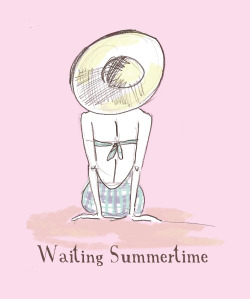 Waiting summertime…illustration by Ilaria Vallone