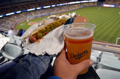 Dodger Dog X Shock Top on Flickr.Food Porn!
