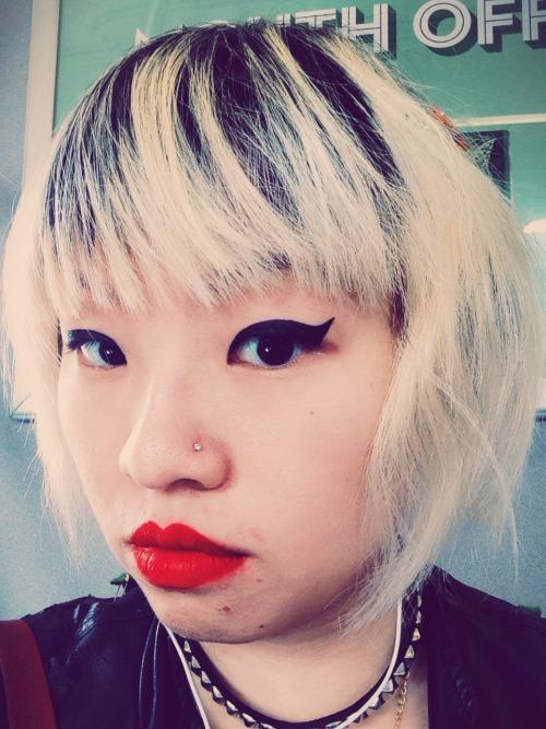 Redid my goth girl selfie bc lighting aw yeah  High school aspirations unlocked