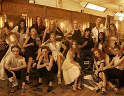 "US Vogue May 2009 ""The Godfather"" Steven Meisel with his ultimate muses."