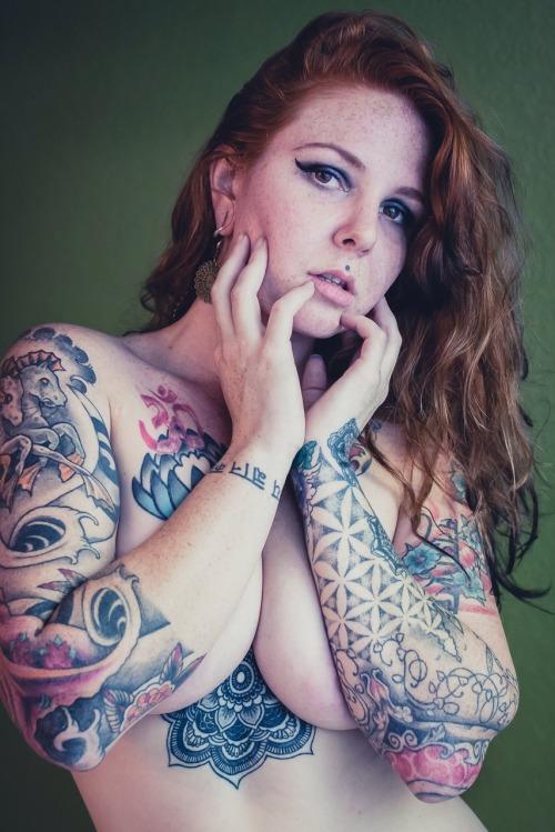 robocuntasaurus:I get naked :) Photo: david-e-martindale Model: Ginger Paige- robocuntasaurus