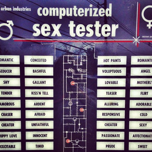 #computerized #sex #tester #vintage #brimfield