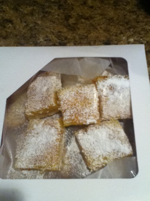 designadozen:  Lemon Bars by the Dozen!!!!  HIGHLY recommended if you are a lemon bar fan, these are #onewordwow #awesome, I had them last night and was once again blown away by them! Check out Nic Faulks of Design a Dozen inquire if you're trying to get that craving addressed!