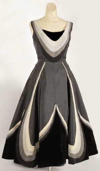 Fontana silk and velvet party dress | Vintage Textile Archives | 1950s