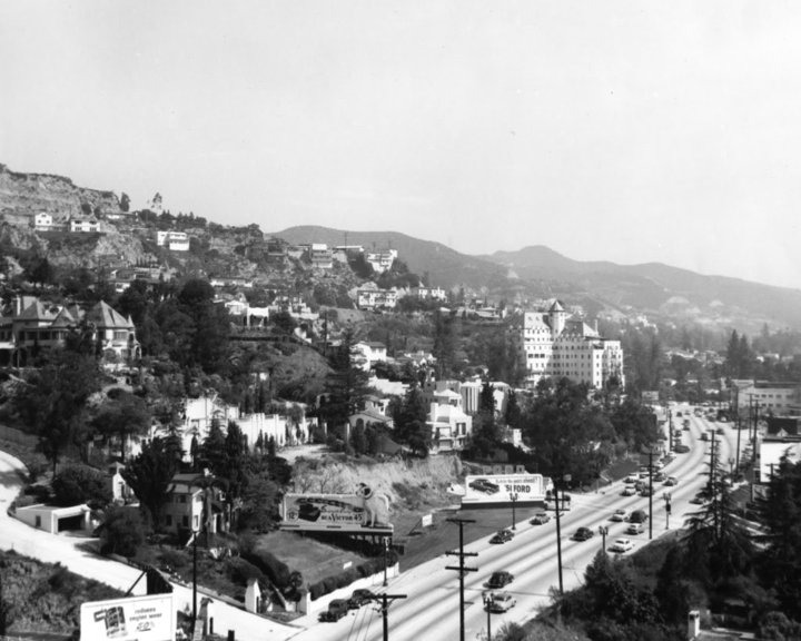 On the corner of Sunset & Sweetzer, before there was The Standard, Hollywood