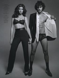 fourfooted:  A Man and a Woman, Terry Richardson (Vogue Hommes International, Fall 2012)