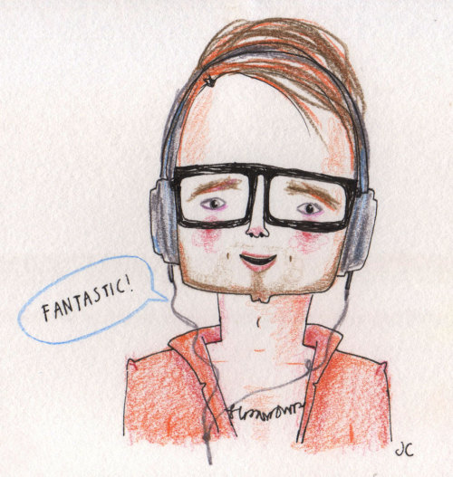 I've submitted a drawing of this rather handsome music maker, Josh, for this week's illustration friday topic. I'm going to try and make sure i do more THINGS.