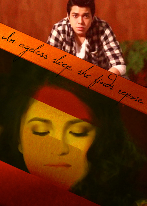 "JuliElmo crossoverSleeping Beauty (1959)  ""Sweet princess, if through this wicked witch's trick, a spindle should your finger prick… a ray of hope there still may be in this, the gift I give to thee. Not in death, but just in sleep, the fateful prophecy you'll keep. And from this slumber you shall wake, when true love's kiss, the spell shall break. """