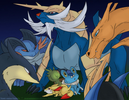 "awesomepokemonartistry:  ""Pokestarters"" by x  Are you ready to be the new starters?"