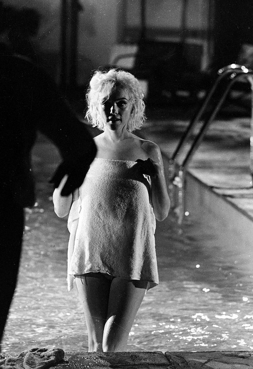 Marilyn Monroe during the filming of Something's Got To Give in 1962