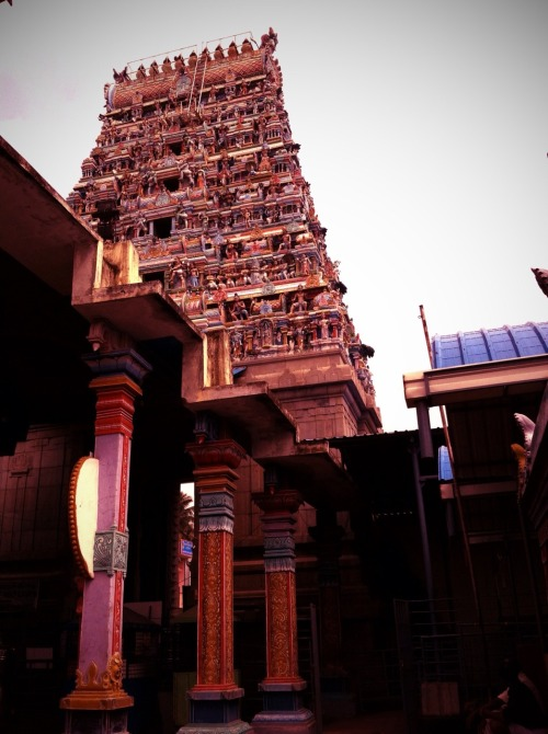 Gopuram at Thirunallar Saneeswaran Temple.