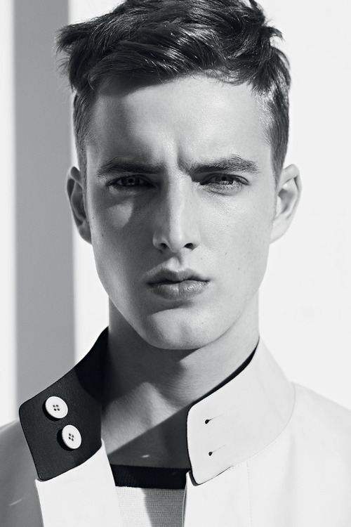 strangeforeignbeauty:  James Smith for Sandro's Spring/Summer 2013 [ b&w | fave models | 1000+ notes | facebook | twitter ]