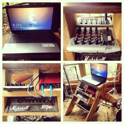 My creation to organize my music stuff.  (at Rocking KB Ranch)