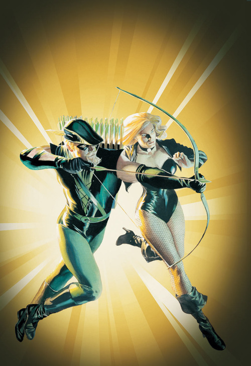 more-like-a-justice-league:  Green Arrow and Black Canary by Alex Ross