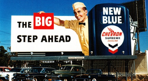 Chevron billboard - Los Angeles, California USA - 1950s Copyright © Vintage Cool 2 (Tim Sox) on Flickr.  All rights reserved.