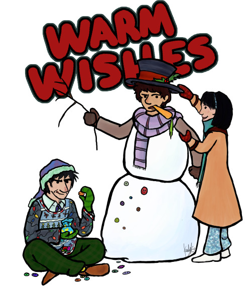 desaturated-toast:  lostthehat:  Those seasonal greetings~  Ohhh myyy goooooooooooooooosh Of COURSE Two would be ALL OVER awful Christmas sweaters. (Your style is just so adorable, you know that, right? I hope you do.)    Seconded!