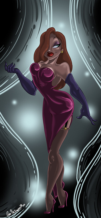 Everyone's Favorite Rabbit Jessica Rabbit by *Anamated