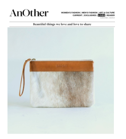 "Another Mag LOVES.  Hare + Hart ""Mama Pouch"". @anothermag @hareandhart @caromarketing"