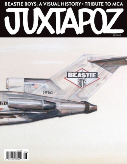 Juxtapoz's June 2013 issue is dedicated to the Beastie Boys #RIPMCA