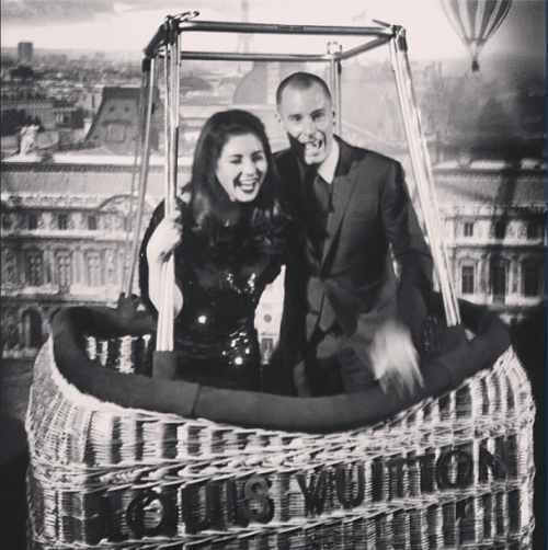 "within-the-seahorses-belly:  ""Hot Air Balloon ride with Mr Louis-Vuitton"""