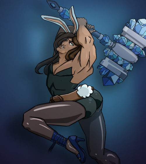 thekawaiiod:  whoisingridarcher:  Battle Bunny Taric, in glorious color.  hahaha