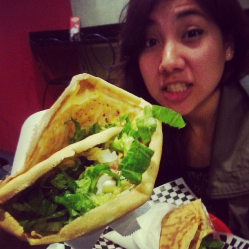 Crepemaker for the first time! @radbombjess @supersteez #bboysanonymous #urbanmotus #bbaxurmo #nomnomz