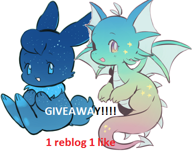 spraykruger:  Hi i'm doing an incredibly lame and dinky giveaway!! win a chance to get yourself a custom cybunny/draik adoptable! and a small neopet item that i find cute.  the rules: you don't have to follow me 1 reblog and 1 like per person no giveaway blogs i'd prefer it if you were into neopets/a neopets blog you know this giveaway ends tomorrow in the afternoon…. The winner: I will choose a winner with a number generator and I will message you so have your ask box open!  Tell me which one you would like- cybunny or draik; and give me refs if necessary.  might choose two winners…. Tell me your neopets account so I can send you the tiny gift. ok