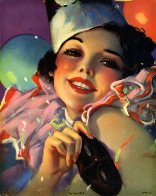 maudelynn:  Carnival Girl! gorgeous pin up c.1940