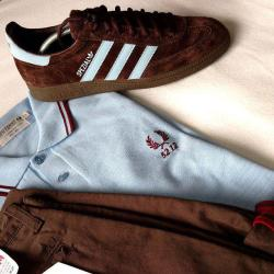 suburbandandies:  fred perry and adidas spezial
