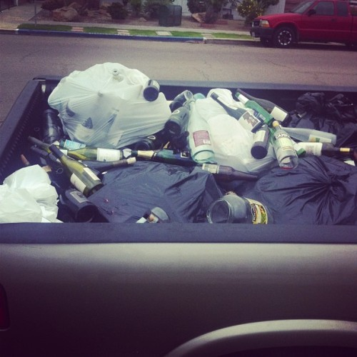 Recycle day aka remind yourself of how much you drink day.