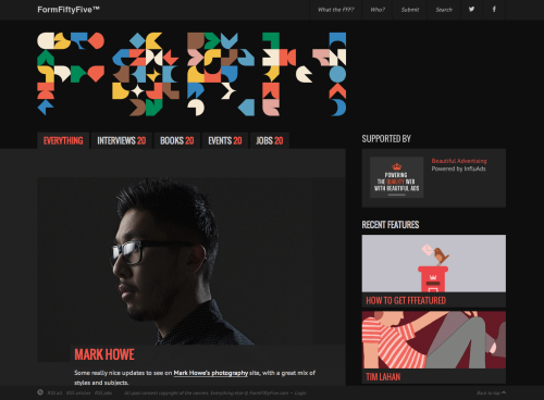 One of the best design blogs around, FormFiftyFive, recently had a fantastic make over. Very much in keeping with other recently updated blogs, the site is kept simple and now has a focus on larger posts. Overall the site now feels like a real throne for the beautiful work it features. Posted by Matthew.