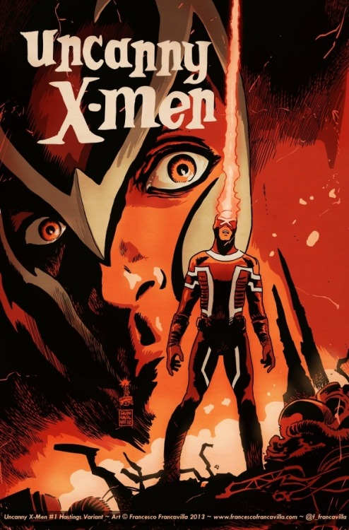 Uncanny X-Men 1 variant cover by Francesco Francavilla for the Hastings chain of shops