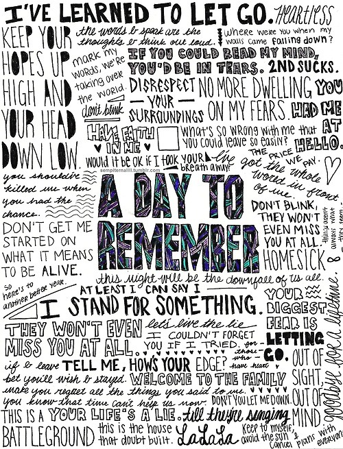 A Day To Remember Lyrics Tumblr love quote tumb...
