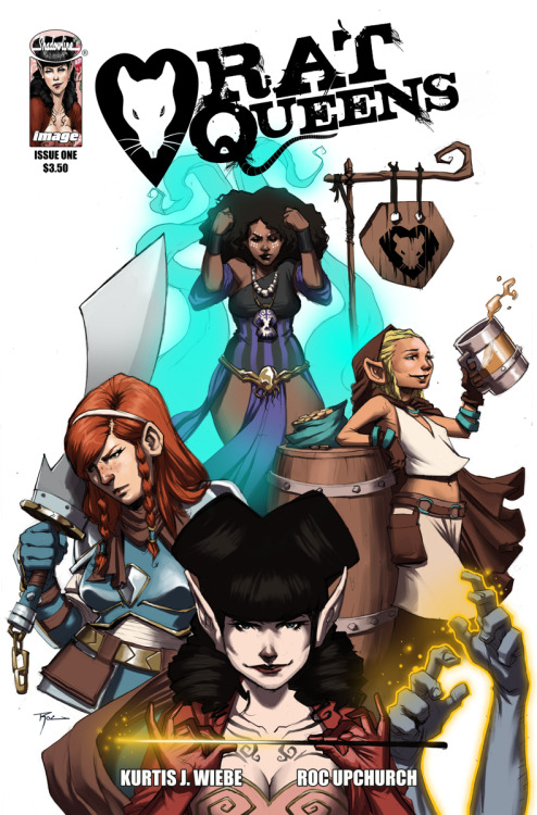 A preview of the new Image/Shadowline comic RAT QUEENS by Kurtis J. Wiebe and Roc Upchurch! More information at the USA Today interview.