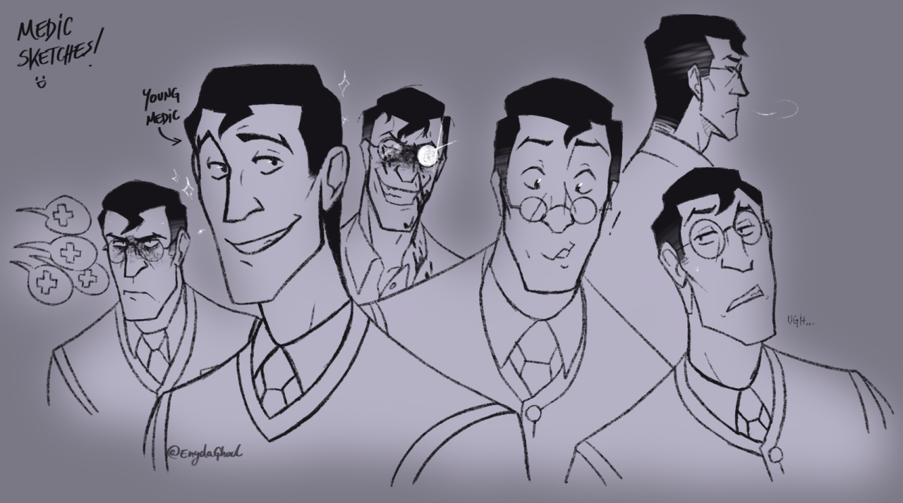 A lil practice with Medic #tf2 #Team Fortress 2 #tf2 medic#medic#sketch#digital art