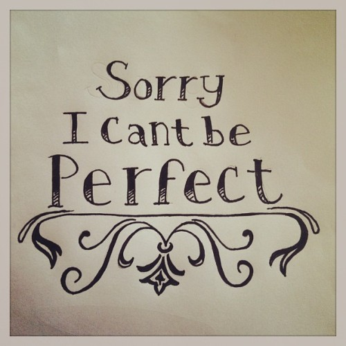 "Feb.16: ""Perfect""  Taken from the #SimplePlan song  #doodleadayfeb #fmsphotoaday #drawing #sketch #illustration #type #typography #perfect"
