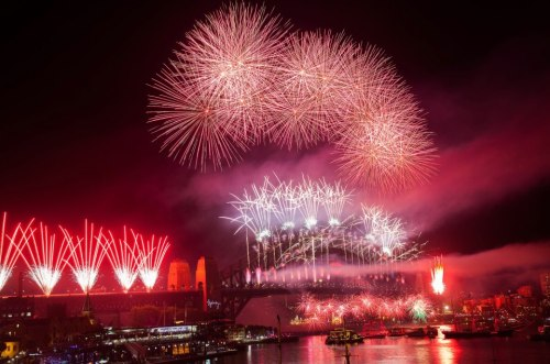 Harbour Bridge, Sydney, Australia 2013 Countdown Fireworks