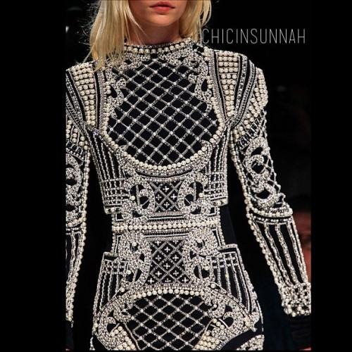 #ChicBeat The opulent detail of @balmainparis. Unparalleled. #hijabspiration #chicinsunnah #fashion
