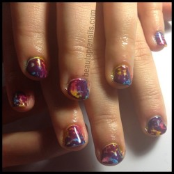 Another view of Kelsey's nails, in love with these. #nails #nailart #shellac #shellacart #beautopianails