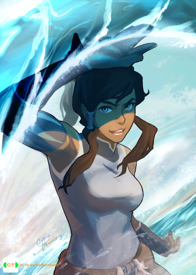 Korra In Her Element!! by *dCTb