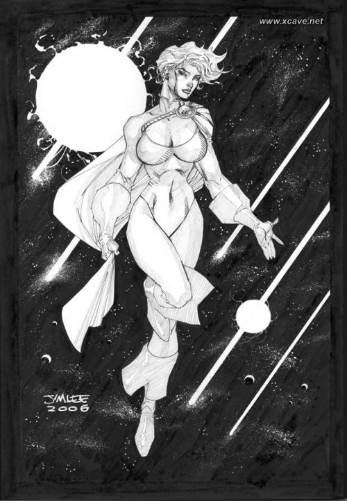 Power Girl by Jim Lee