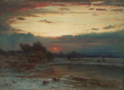 aleyma:  George Inness, A Winter Sky, 1866 (source).
