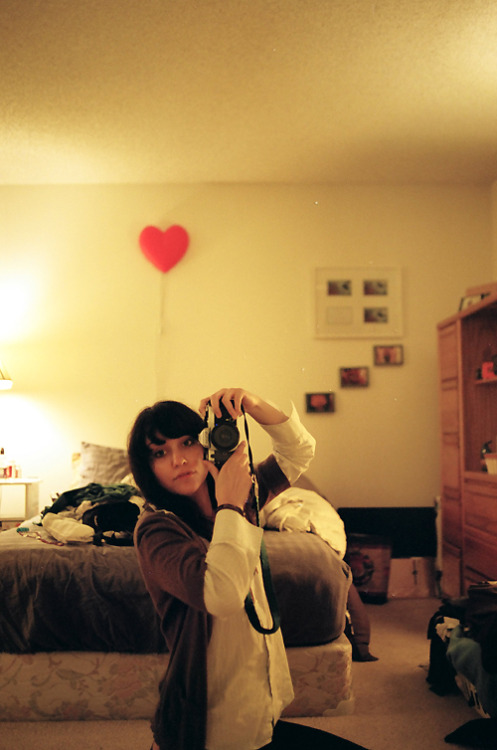 self portrait, Park West apartment bedroom circa 2008? 35mm film.