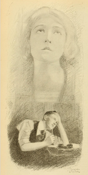 theloudestvoice:  Illustration of a man writing fan mail to Dorothy Gish, Photoplay magazine, 1919