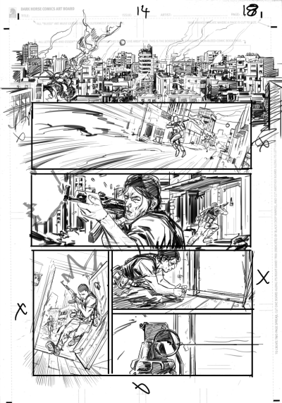 some pencils. Mag and Georg in action.