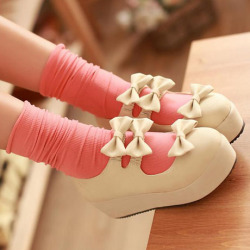 cute shoes bow platforms promotion sponsored sponsor these are SO CUTE sponsors